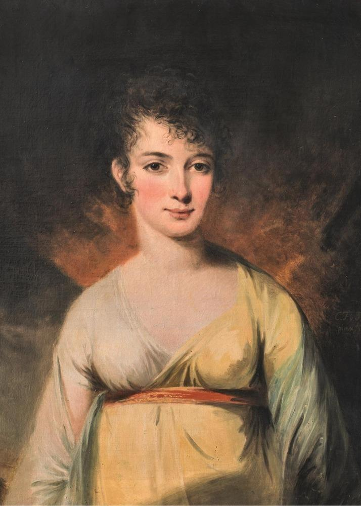 Martina von Schwerin, 1804. Oil on canvas by Carl Fredric von Breda.