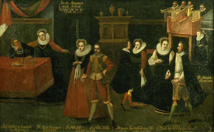 """Dansen med Rud'erne"" from ca. 1630. Probably painted by Remmert Piettersz."
