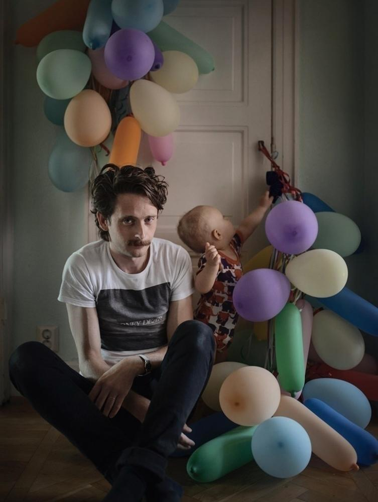 "Image from the exhibit ""Swedish Dads"" by photographer Johan Bävman"