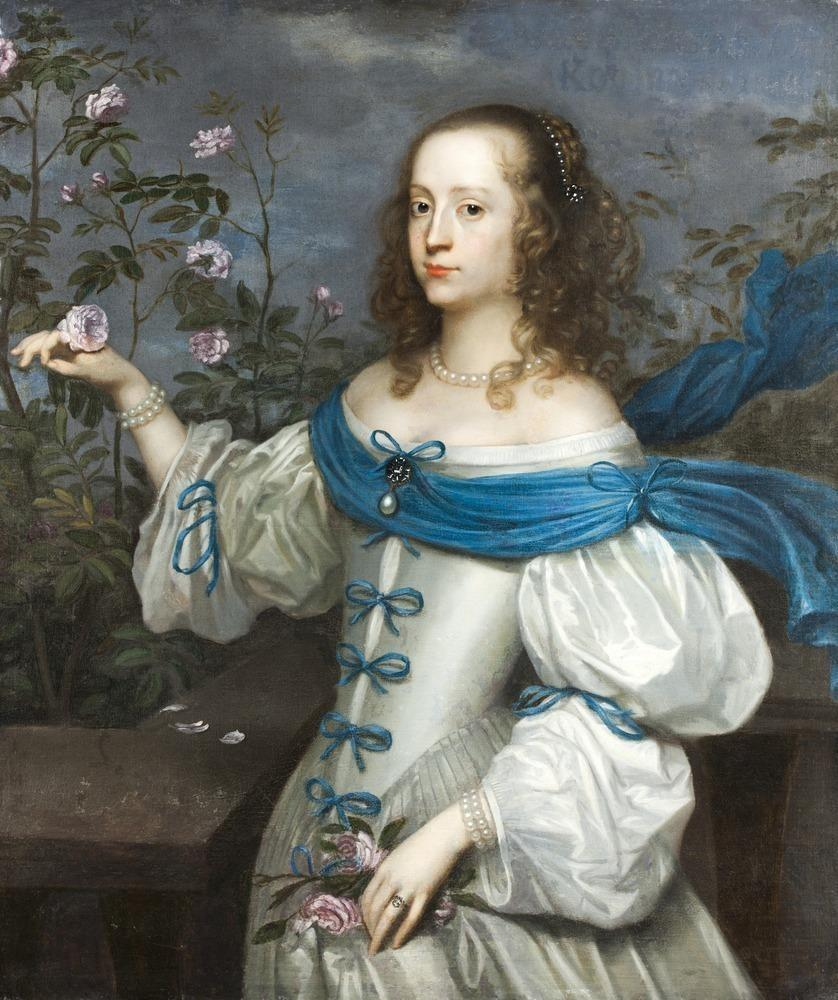 Beata von Königsmarck, 1654. Oil on canvas by Hendrick Munnichhoven.