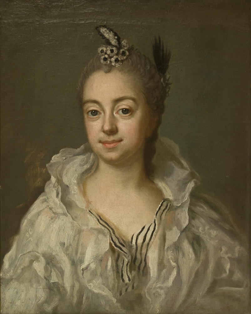 Stina Piper, ca 1750. Oil on canvas Carl Fredrich Brander.