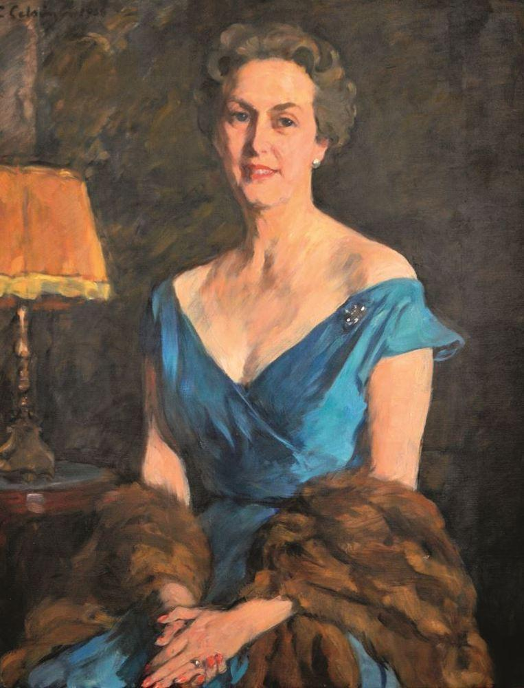 Margaretha von Schwerin, 1958. Oil on canvas by Elsa Backlund-Celsing.